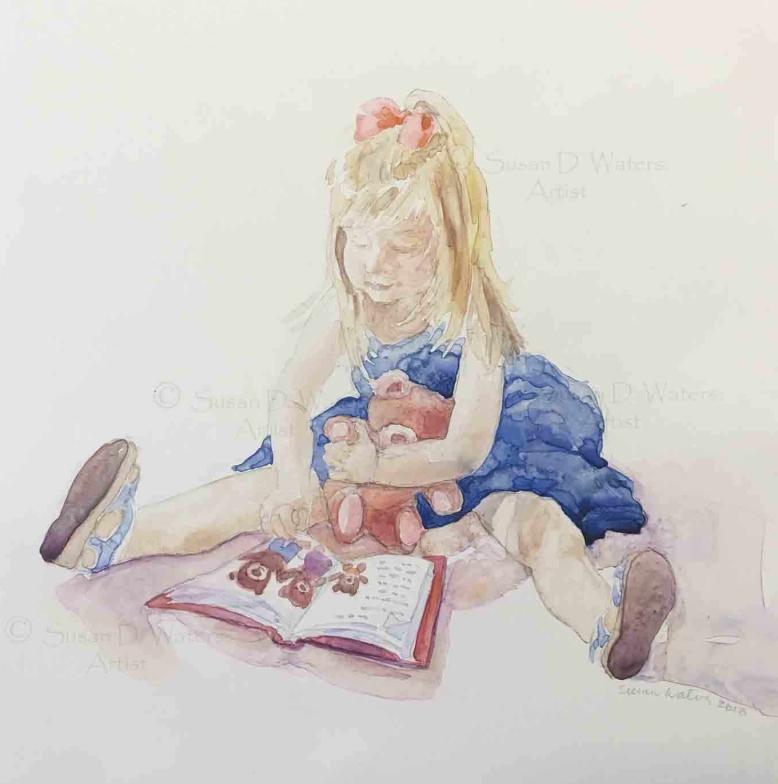 Child-Reading,-Susan-Duke-Waters
