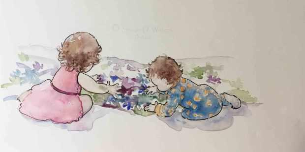 Hand-painting,-Susan-Duke-Waters