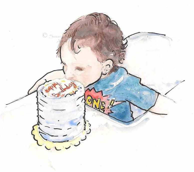 Little-Benny-book-1eating-cake,-Susan-Duke-Waters