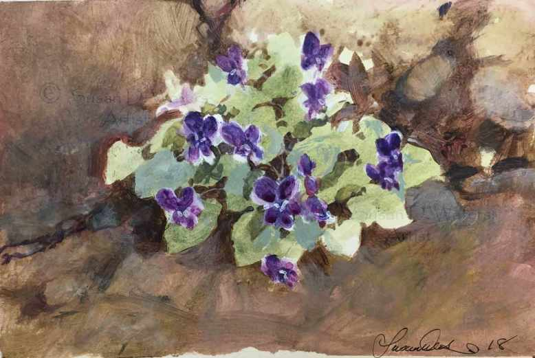 Violets-in-Concrete-I,-Susan-Duke-Waters