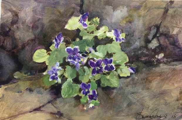 Violets-in-Concrete-II,-Susan-Duke-Waters