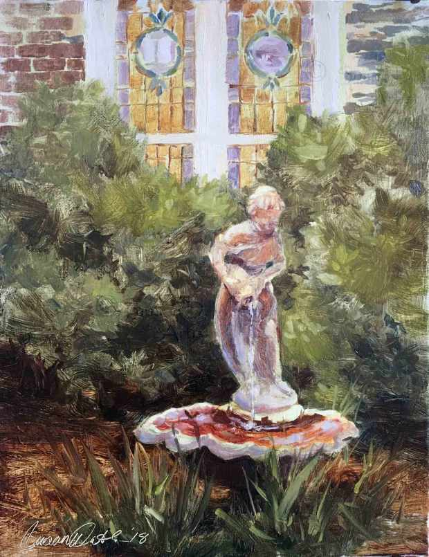 Lady-at-Well,-Susan-Duke-Waters