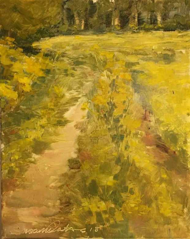 Tractor-Tracks-and-Wildflowers,-Susan-Duke-Waters