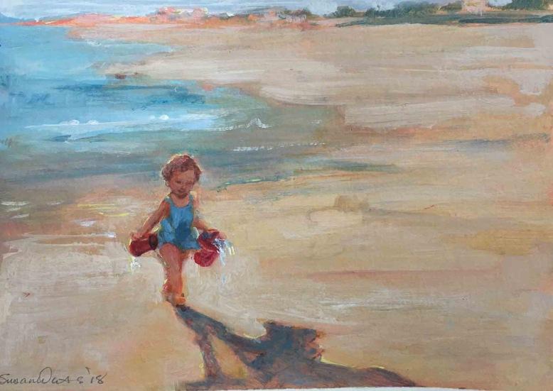 Neva at the Beach, Susan Duke Waters