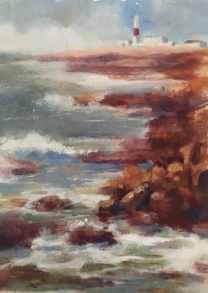 #191. Portland Bill, Dorset, III, acrylic.