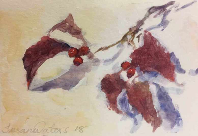 Dogwood-Berries-II,-Susan-Duke-Waters