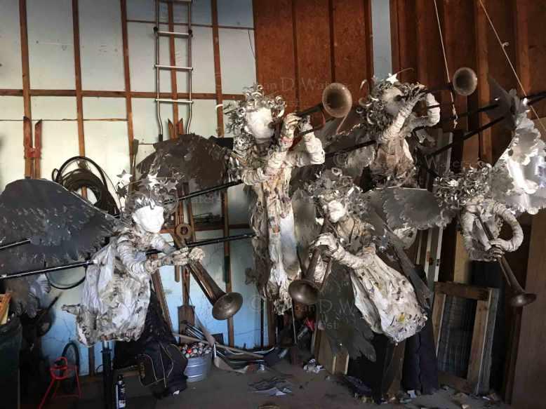 Unfinished-Angel-Host-Papier-Mache-Sculpture,-Susan-Duke-Waters