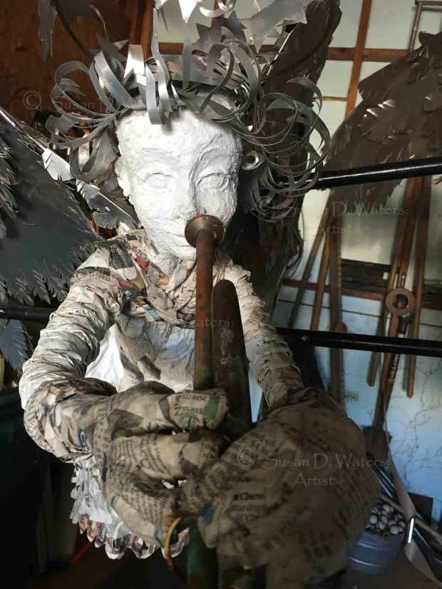 Unfinished-Angel-I-Papier-Mache-Sculpture,-Susan-Duke-Waters