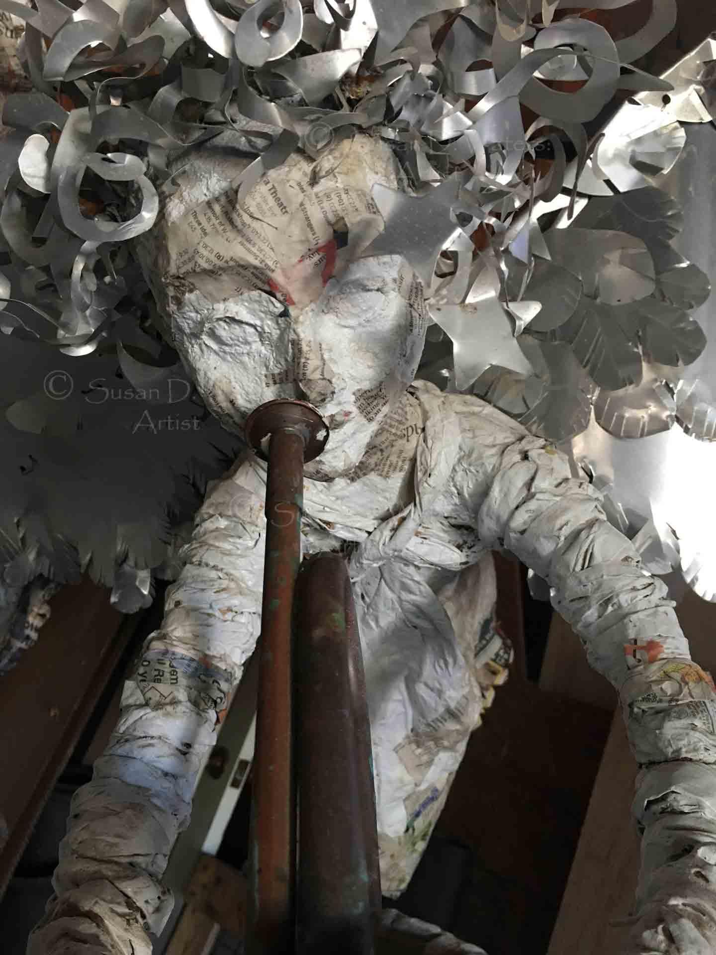 Unfinished-Angel-IV-Papier-Mache-Sculpture,-Susan-Duke-Waters