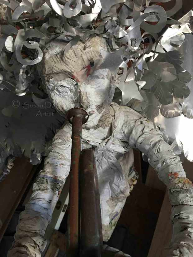 Unfinished-Angel-IV-Papier-Mache-Sculpture,-Susan-Duke-Waters