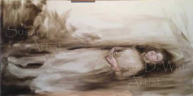 initial-paint-sketch-for-ophelia,-susan-duke-waters