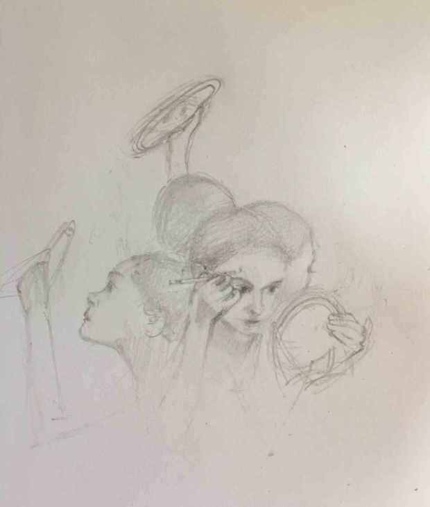 Makeup-Artist-Sketch,-Susan-Duke-Waters