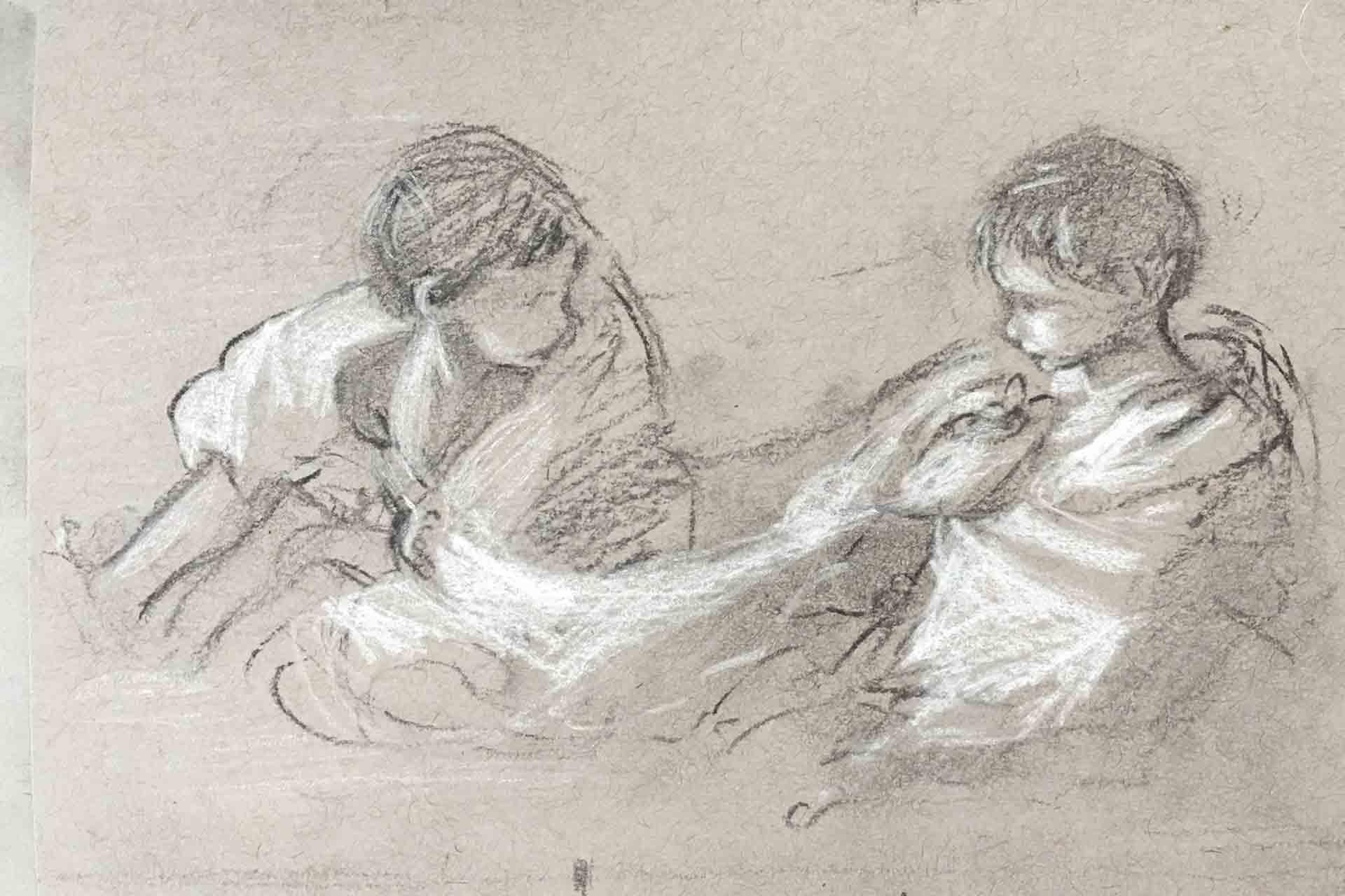 Sketch-for-Gemini,-Susan-Duke-Waters