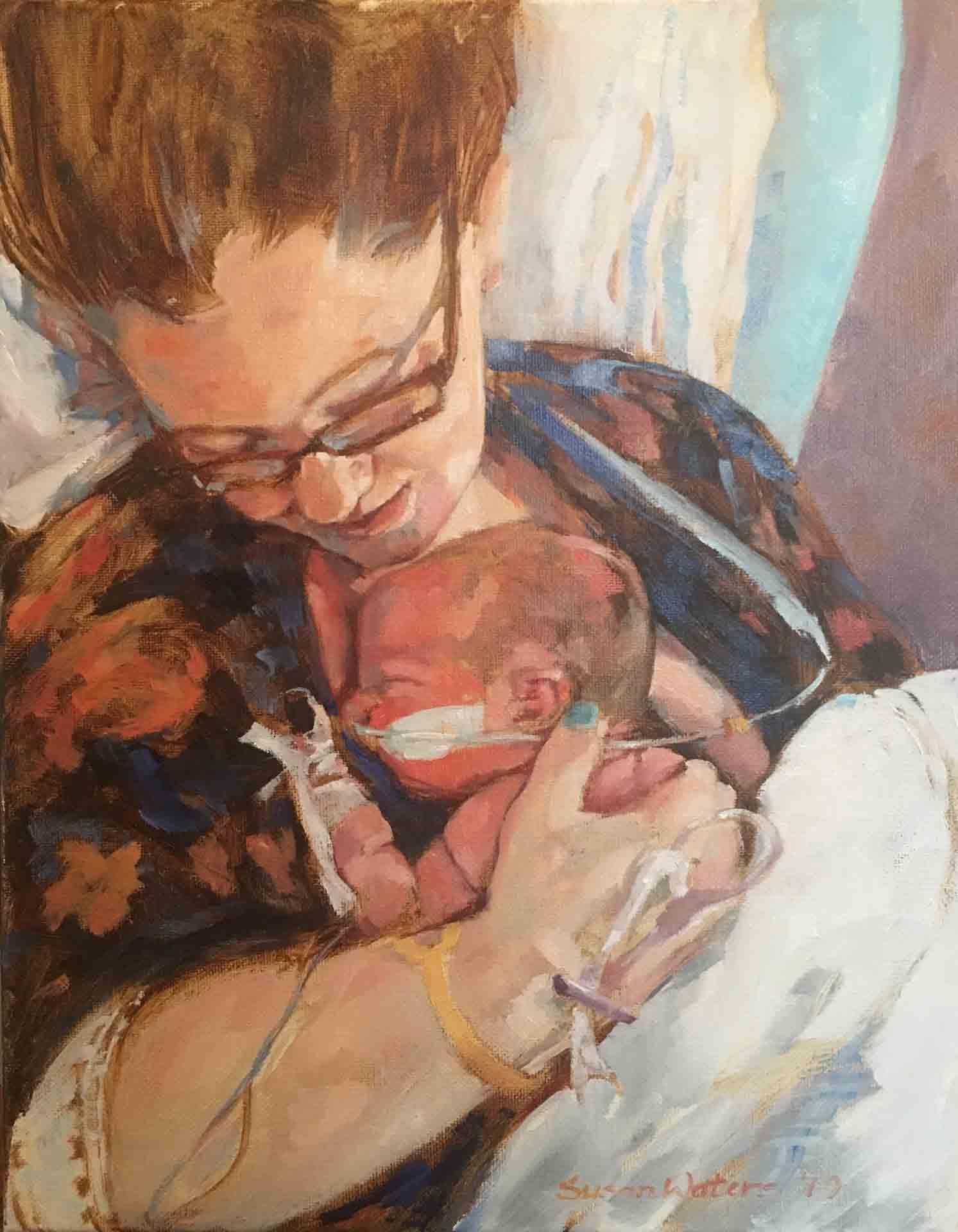 Mother-and-Newborn,-Susan-Duke-Waters