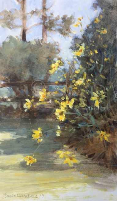 Maximiliani-and-Morning-Glories,-card-1,-Susan-Duke-Waters