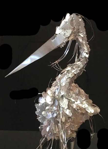 Heron detail.