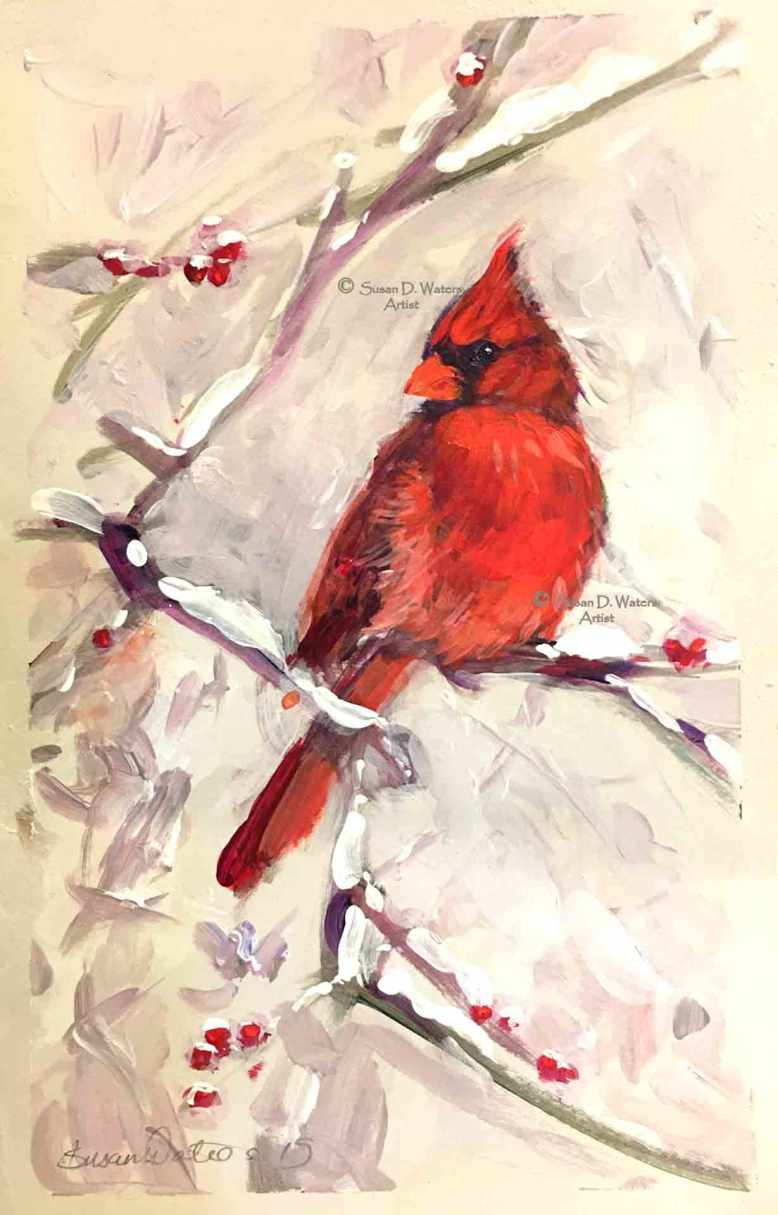 Male-Cardinal,-Susan-Duke-Waters