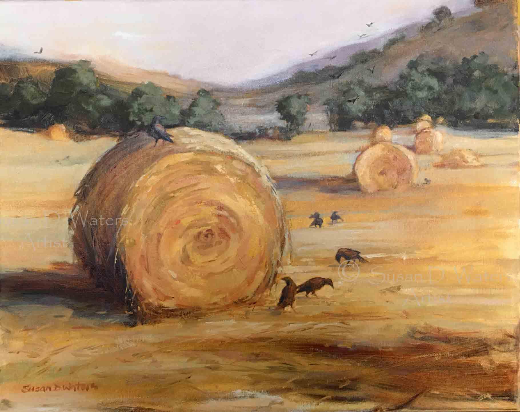 Crows-and-Hay,-Susan-Duke-Waters