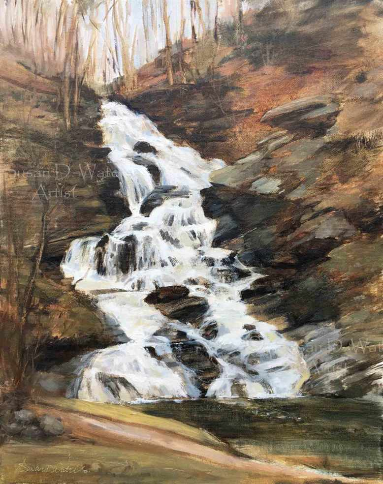 Hightower-Falls,-plein-air,-Susan-Duke-Waters
