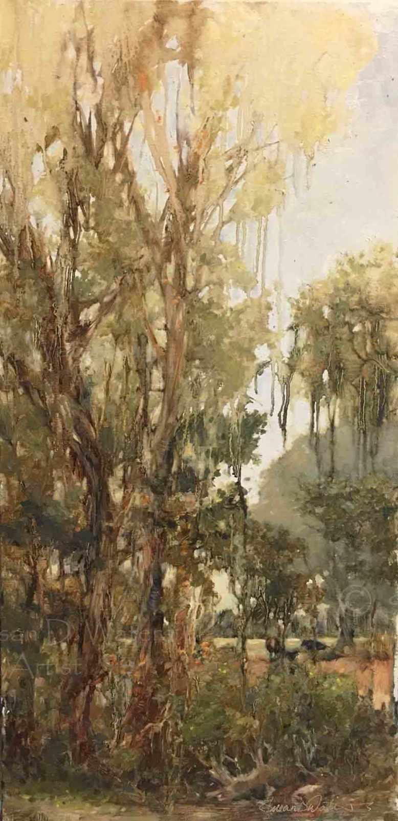 Across-the-Creek-Through-Vines,-Susan-Duke-Waters