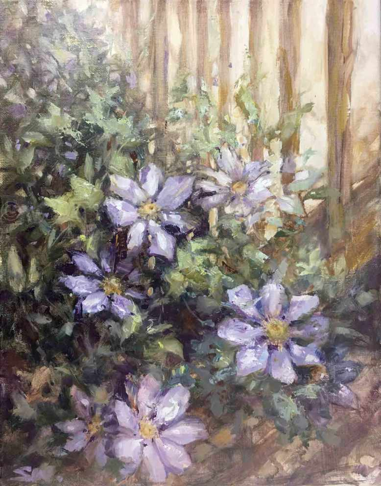 Purple-Clematis,-Susan-Duke-Waters