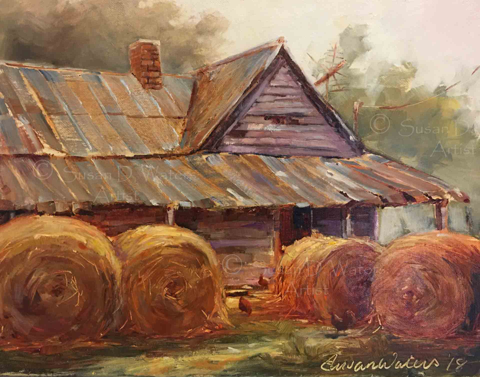 Poteete-Homestead-with-Chickens,-Susan-Duke-Waters